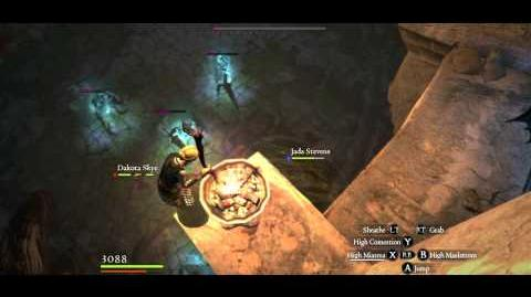 7 Living Armor vs Sorcerer, Arisen undamaged, Hard mode
