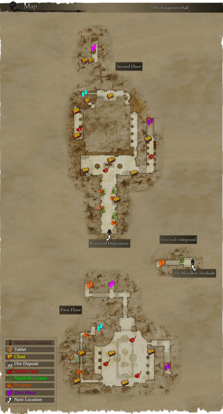 Map The Forgotten Hall