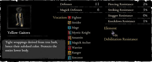Dragonforged Yellow Gaiters