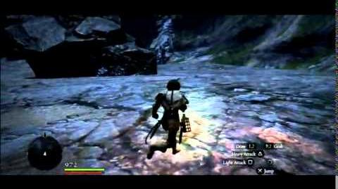 Dragon's Dogma out of bounds glitch in DLC area