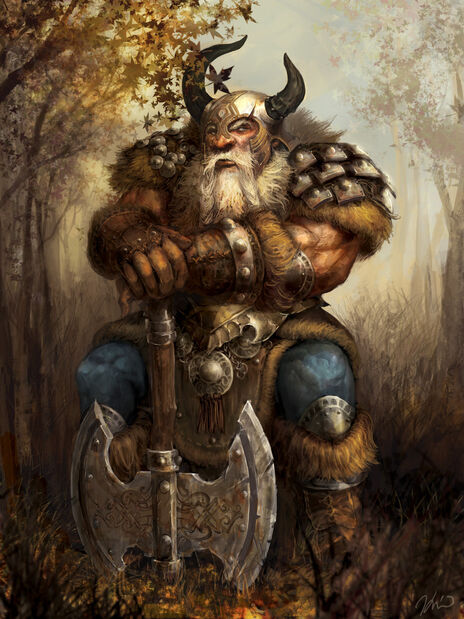 936x1248 1330 Fantasy load 2d fantasy dwarf warrior picture image digital art