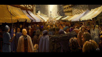 Environment study 04 town market by woutart-d5l3ijr