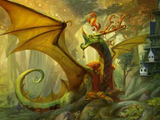 Dragon à Crête Ambrée