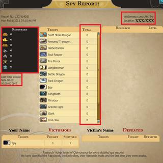 Wilderness Spy with level 10 Clairvoyance