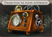 Projection de poste exterieur