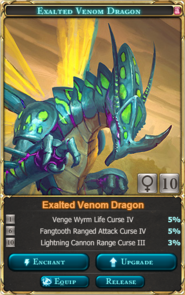 Exalted Venom Adult Dragon(Venom Tournament 1st-2nd)