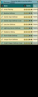 Defense Abilities