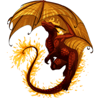 Fire dragon brick