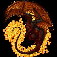 Fire dragon smolder