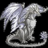Metal dragon silver