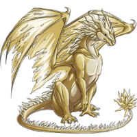 Metal dragon gold