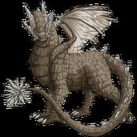 Stone dragon marble