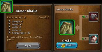 Arcane slacks