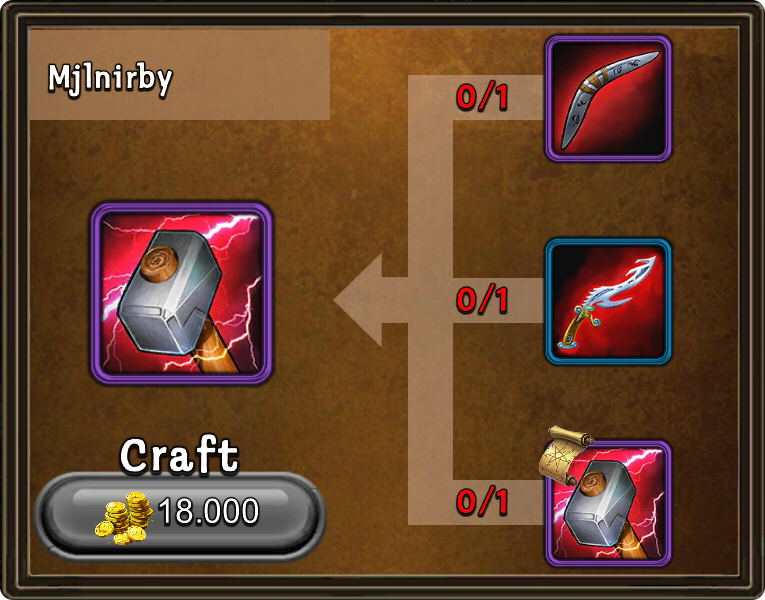 Craft mjlnirby
