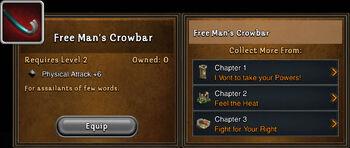 Free mans crowbar