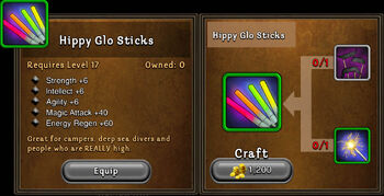 Hippy glo sticks