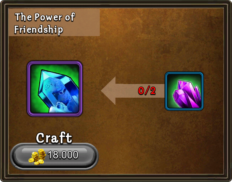 Craft power of friendship