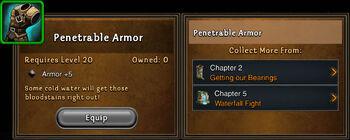 Penetrable armor