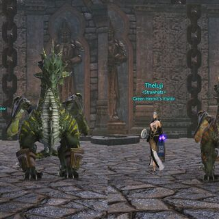 size comparison of Umbral Glare and Green Hermit