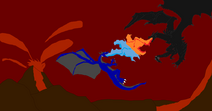Tyler vs alduin by dandinofthebluefire-d5yu12b