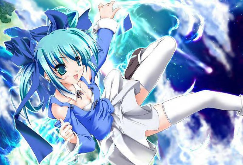 Anime girl desktop by SorasPrincess65