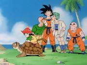 Gokū reunites with friends