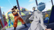 Trunks attacks Goku