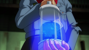Trunks holding Time Machine fuel