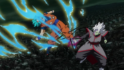 Zamasu block Goku attack