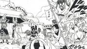 Beerus defeats Gohan and Bu