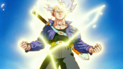 Trunks power up Super Saiyan