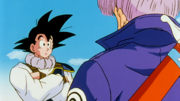 Trunks Goku private talk