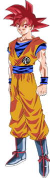 Super Saiyan God Goku movie art