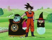 Goku Contacts Gohan