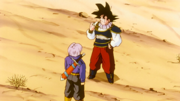 Trunks gives Goku medicine