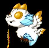 Snowy Gold Dragon Baby