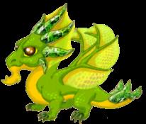 Peridot Dragon Adult