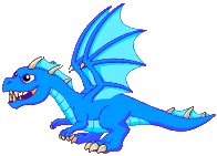 Blue Fire Dragon Adult