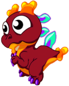 Coral Dragon Baby