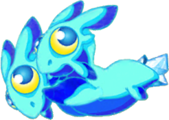 Aquamarine Dragon Baby