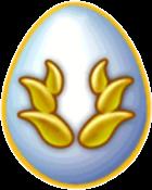 Snowy Gold Dragon Egg
