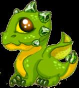 Peridot Dragon Baby