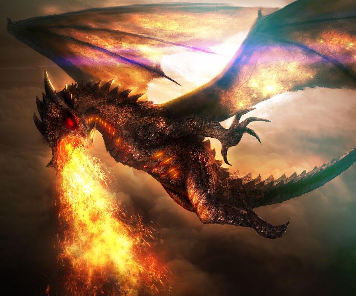 картинки огня из пасти дракона великий