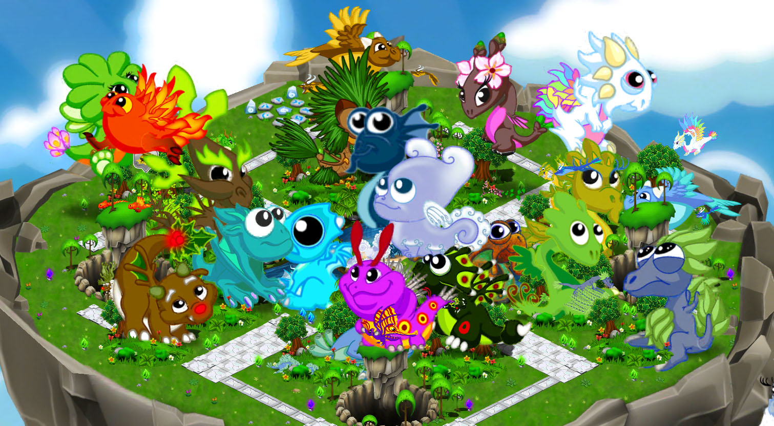 huge baby dragons 2jpg - Dragonvale Dragons Coloring Pages