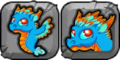 Turquoise Dragon Icon