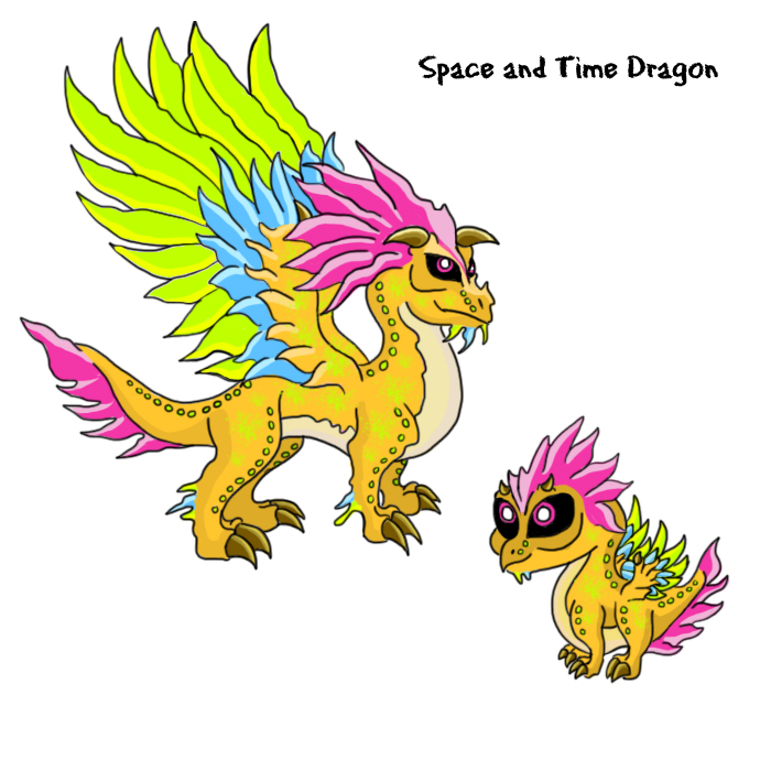 space and tme dragonjpg - Dragonvale Dragons Coloring Pages