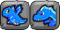 Blue Fire Dragon Icon