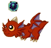 Rendered dungeon dragon baby