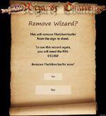 Remove-wizard