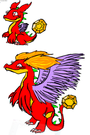 Garnet Dragon Art